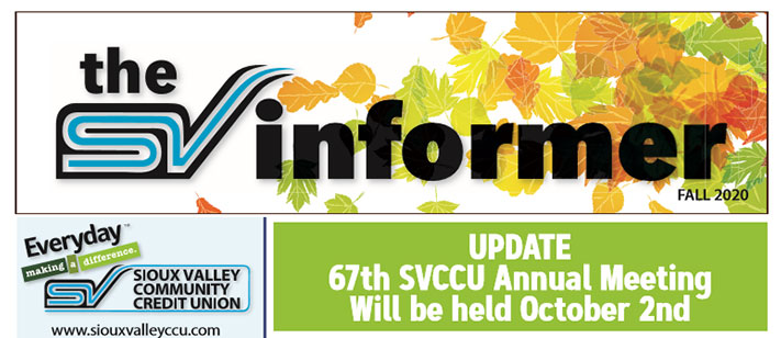 Sioux Valley Fall Newsletter