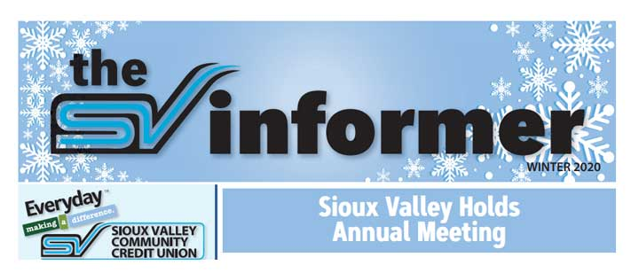 Sioux Valley Winter Newsletter